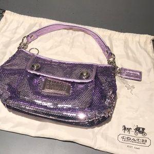 Lose Your Mind Lavender Coach Poppy Sequin Bag